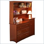 Stork Craft Beatrice Combo Tower & Hutch in Cognac Brown