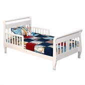 Stork Craft Soom Soom Sleigh Toddler Bed in White