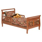 Stork Craft Soom Soom Sleigh Toddler Bed in Cognac Brown