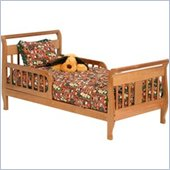Stork Craft Soom Soom Sleigh Toddler Bed in Oak