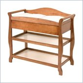 Stork Craft Aspen Sleigh Changing Table with Drawer in Oak
