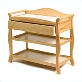 Stork Craft Aspen Sleigh Changing Table with Drawer in Natural
