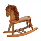 Stork Craft PlayTyme Child's Rocking Horse in Cognac Brown