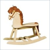 Stork Craft PlayTyme Child's Rocking Horse in Natural