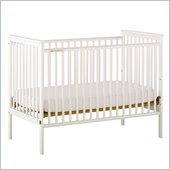 Stork Craft Libby White Fixed Side Baby Crib