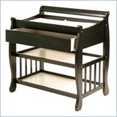 Stork Craft Tuscany Baby Changer with Drawer in Black
