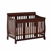 Stork Craft Tuscany 4-in-1 Stages Baby Crib in Espresso