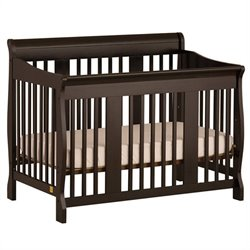 Stork Craft Tuscany 4-in-1 Stages Baby Crib in Black