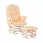 Stork Craft White Hoop Glider & Ottoman