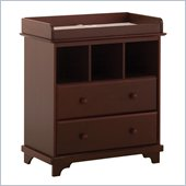 Lily 2 Drawer Baby Changing Table in Cherry