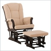 Stork Craft Tuscany Black & Beige Glider & Ottoman