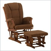 Stork Craft Tuscany Cognac & Chocolate Glider & Ottoman