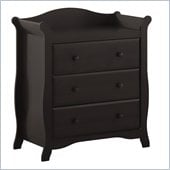 Stork Craft Aspen 3 Drawer Wood Chest in Black