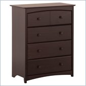 Stork Craft Beatrice 4 Drawer Chest in Espresso