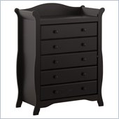 Stork Craft Aspen 5 Drawer Chest - Black