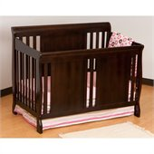 Stork Craft Verona Fixed Side 4-in-1 Convertible Crib in Espresso