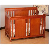 Stork Craft Verona Fixed Side 4-in-1 Convertible Crib in Cognac