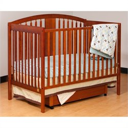 Stork Craft Hollie 4-in-1 Fixed Side Convertible Crib in Cognac