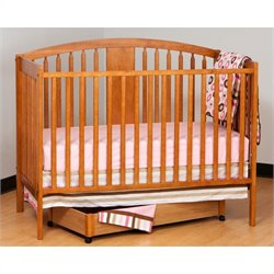 Stork Craft Hollie 4-in-1 Fixed Side Convertible Crib in Oak