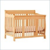 Stork Craft Tuscany 4-in-1 Stages Baby Crib in Natural
