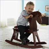 Stork Craft PlayTyme Child's Rocking Horse in Espresso