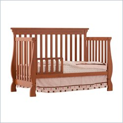 Stork Craft Carrara 4-in-1 Fixed Side Convertible Crib in Oak