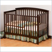 Stork Craft Bradford 4-in-1 Fixed Side Convertible Crib in Espresso