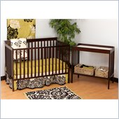Stork Craft Milan 2-in 1 Crib and Changer Combo in Espresso