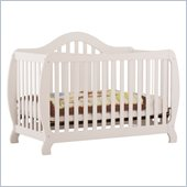 Stork Craft Monza 2-in 1 Fixed Side Convertible Crib in White