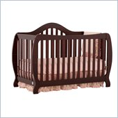 Stork Craft Monza 2-in 1 Fixed Side Convertible Crib in Cherry