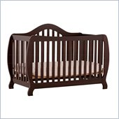 Stork Craft Monza 2-in 1 Fixed Side Convertible Crib in Espresso