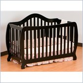Stork Craft Monza 2-in 1 Fixed Side Convertible Crib in Black