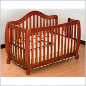Stork Craft Monza 2-in 1 Fixed Side Convertible Crib in Cognac