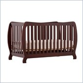 Stork Craft Monza II 2-in 1 Fixed Side Convertible Crib in Cherry