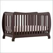 Stork Craft Monza II 2-in 1 Fixed Side Convertible Crib in Espresso