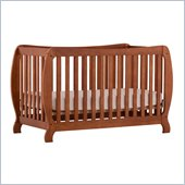 Stork Craft Monza II 2-in 1 Fixed Side Convertible Crib in Oak