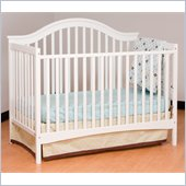 Stork Craft Ravena 2-in 1 Fixed Side Convertible Crib in White