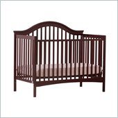Stork Craft Ravena 2-in 1 Fixed Side Convertible Crib in Cherry