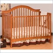 Stork Craft Ravena 2-in 1 Fixed Side Convertible Crib in Oak