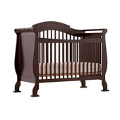 Stork Craft Valentia 4-in-1 Fixed Side Convertible Crib in Espresso