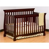 Stork Craft Venetian 4-in-1 Fixed Side Convertible Crib in Cherry