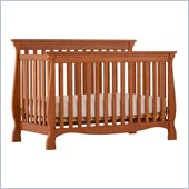 Stork Craft Venetian 4-in-1 Fixed Side Convertible Crib in Oak