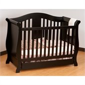 Stork Craft Vittoria 3-in-1Fixed Side Convertible Crib in Black