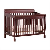 Stork Craft Modena 4 in 1 Fixed Side Convertible Crib in Cherry