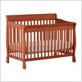 Stork Craft Modena 4 in 1 Fixed Side Convertible Crib in Cognac