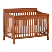 Stork Craft Modena 4 in 1 Fixed Side Convertible Crib in Oak