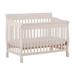 Stork Craft Modena 4-in-1 Fixed Side Convertible Crib in White