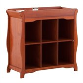 Stork Craft Aspen 6 Cube Organizer/Change Table in Cognac