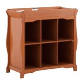 Stork Craft Aspen 6 Cube Organizer/Change Table in Oak