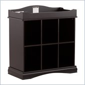 Stork Craft Beatrice 6 Cube Organizer/Change Table in Black